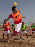 Beach Football at the �Extreme Beach Party�  Event in Muscat
